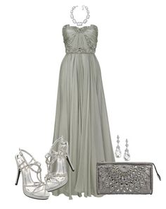 """""""Crystal Illusion"""" by ohmeejean ❤ liked on Polyvore featuring Marchesa, Swarovski, Jocelyn and BUBA"""