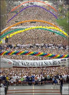 38bd1b07d5 Have you ever ran with 40K people  Vancouver Sun run is this sunday! WOW