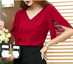 CHIFFON BLOUSE WITH BUTTERFLY SLEEVES Use code PIN20 to save 20% off your order