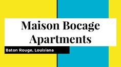 Maison Bocage Apartments in Baton Rouge