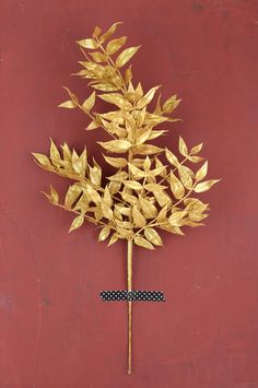 Gold foliage for Christmas centerpieces and mantel decorations.