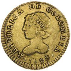 Kolumbien, Escudo 1823 Gold