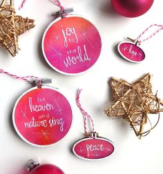 A big thanks to @creativelife_happylife for featuring these pretty pink embroidered ornaments in their gift guide! Perfect embellishments for your gift wrapping too. Visit my shop in my profile link to see what ornaments are still available and share some sparkle this holiday season! #giftguide #christmasornament #giftgiving