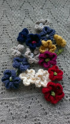 crochet flower hair accessory