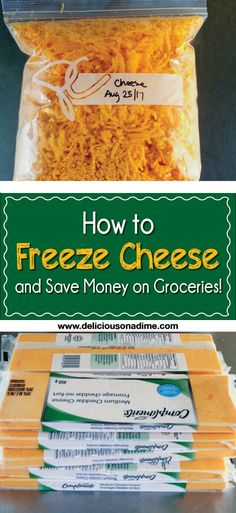 "This quick and easy tip is for any of you who ever wondered, ""Hmmmm… can you freeze cheese?"" Yes, you can freeze cheese, and it's awesome. Here's how to freeze cheese and save money on groceries."