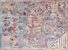 Carta Marina - 1539. Scandinavian Marine Map