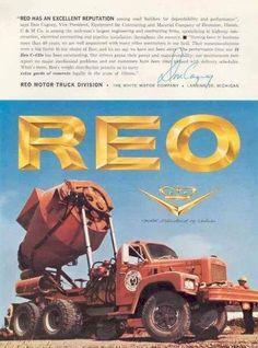 REO mixer Cool Trucks, Big Trucks, Cement Mixer Truck, Equipment Trailers, Old Lorries, Concrete Mixers, Heavy Duty Trucks, Tow Truck, Vintage Trucks