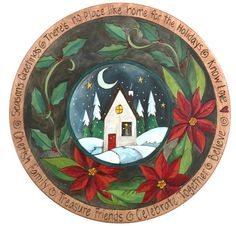 """20""""D Small Lazy Susan - Holiday Themed"""