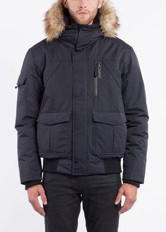 NOIZE- men- AADEN - dark navy Hudson Bay, Dark Navy, Winter Coat, Canada Goose Jackets, Winter Jackets, Stuff To Buy, Winter Wonderland, Black, Vegan