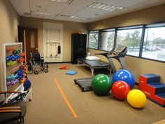Physical Therapy room. We need storage for hand weights like this.  PT room wont have windows. Does it need mirrors?