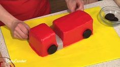 How To Make a Fire Truck Birthday Cake with Betty Crocker