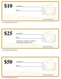 Printable gift certificates gift certificate printables printable gift certificates for a hair salon or stylist with denominations of 10 25 yelopaper