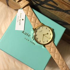 FLASH‼️SALE Kate Spade Watch Genuine nude leather band with stitching. Brand new with box and tags. PP Trades kate spade Accessories Watches