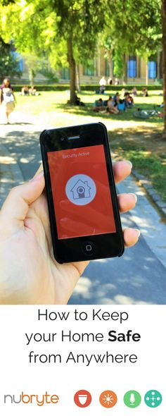 Activate your home security from anywhere in the world.