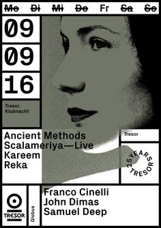TRESOR CLUB, BERLIN—SEPT 16A selection of monthly artwork - Vanja Golubovic