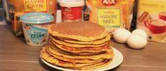 sunne pannekaker for hele familien Pancakes, Healthy Lifestyle, Protein, Food And Drink, Healthy Eating, Dessert, Snacks, Breakfast, Mille Crepe
