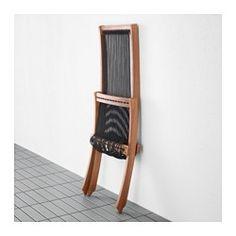 BROMMÖ Lounger, outdoor, black, brown - IKEA