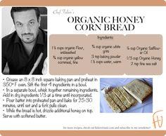 Organic Honey Corn Bread #VeteransDay