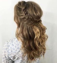 Half Up Crown Braid For Curly Hair