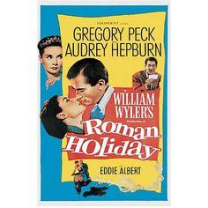 Audrey Hepburn movie posters | Audrey Hepburn Movie (Roman Holiday, Credits) Poster Print - 24x36