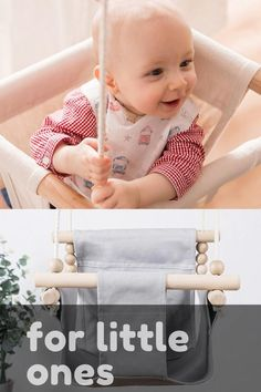 Baby Swing Set, Portable Baby Swing, Wooden Baby Swing, Baby Hammock, Baby Canvas, Diy Bebe, Baby Chair, Baby Bouncer, Baby Sewing Projects