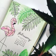 Needing some inspiration for your bullet journal monthly covers for February? Then take a look at these 26 awesome monthly cover pages.