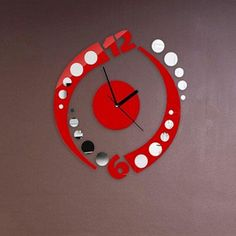 Buy now 2017 hot wall clock watch reloj pared 3d stickers diy Acrylic sticker Living Room Modern clocks relogio de parede home decor just only $6.77 with free shipping worldwide  #clocks Plese click on picture to see our special price for you