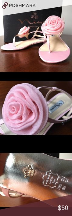 Nina New York Light Pink Sandals Size 8, brand new in box. Absolutely adorable! They are the perfect finish for those summer outfits. Shoes Sandals