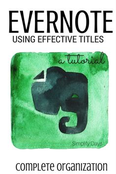 This is a tutorial for the powerful organization app Evernote. Learn the tips…