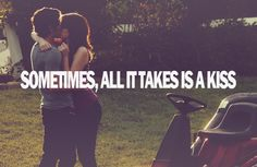 that first kiss with someone you like <3