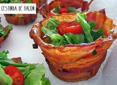 Fantástico!!! Cestinha de Bacon