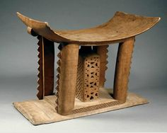 Africa | Stool from the Akan people of Ghana | Carved wood