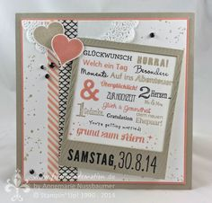 Stampin' Up! by First Hand Emotion: IN{K}SPIRE_me Challenge #161: Zarte Hochzeitskarte