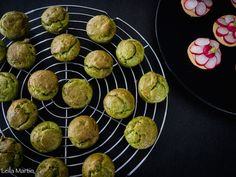 Mini-cakes au vert de poireau, lardons et Tomme du Ried – je vais vous cuisiner Beignets, Muffin, Eggs, Lunch, Cooking, Breakfast, Petits Cakes, Desserts, Gaspard