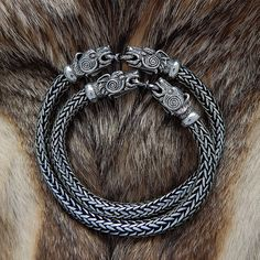 VIKING BEAR Bracelet. VIKING Silver Bear Head Bracelet. от RuyaN