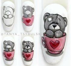 Bird Nail Art, Animal Nail Art, Cute Nail Art, Nail Art Disney, Disney Acrylic Nails, Nail Art Designs, Animal Nail Designs, Fancy Nails, Diy Nails