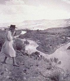 Georgia O'Keeffe ~ camera in hand  adventure in mind
