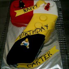 7 Year Old Lego Fanatic! Birthday cake for boys