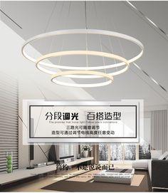 Fashional À Manger lustres cercle anneaux lustre lumière pour éclairage intérieur lampadario moderno Lustre Lustre Éclairage dans Lampes Suspendues de Lumières et Éclairage sur AliExpress.com | Alibaba Group