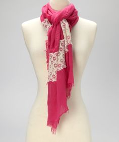 Take a look at this Fuchsia & Ivory Lace Scarf on zulily today!
