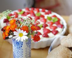 Strawberry tart for my birthday