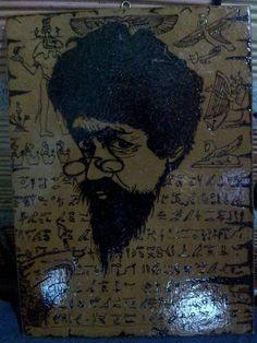 Pirografia na madeira..