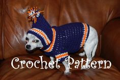Sports Team Dog Hoodie by Posh Pooch | Crocheting Pattern - Looking for your next project? You're going to love Sports Team Dog Hoodie by designer Posh Pooch. - via @Craftsy
