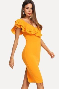 SHEIN Glitter Form Fitting Tee Dress Black Women Dress Long Sleeve ... cf47a5e08b0e