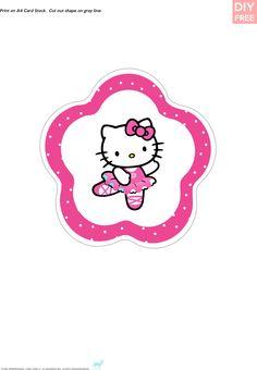 DIY Free Hello Kitty Cake Topper
