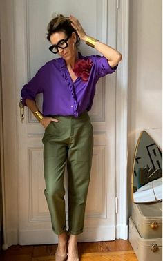 Mature Fashion, Work Fashion, Fashion Outfits, Womens Fashion, Casual Work Outfits, Stylish Outfits, Summer Outfits, Color Combinations For Clothes, Vetement Fashion
