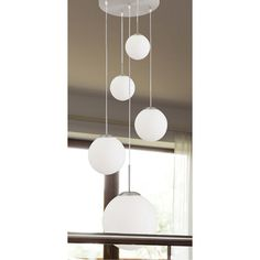 Deckenleuchte Bollique 5-flammig - Nickel matt Bright Lights, Stairways, Pendant Lighting, Ceiling Lights, Interior Design, Room, Inspiration, Home Decor, Light Bulb