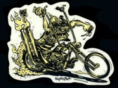 Von Franco Sticker Decal Hot Rod Monster Motorcycle Kustom Kulture Poster Pop