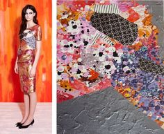 Splash Connect:- Michael van der Ham - Resort 2014 - Palette Splash - Pale Pink / Tangerine / Salmon / Coral / Ochre / Grey / Black & White Resorts, Runway Fashion, Sequin Skirt, Style Inspiration, Inspired, Color, Design, Art, Fashion Show