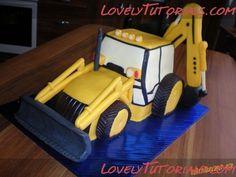 excavator truck cake